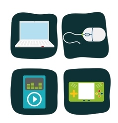 Technology icons design vector
