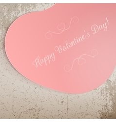 Valentines day big pink festive heart banner vector