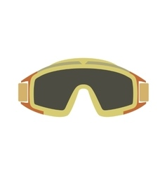 Paintball goggles flat icon vector