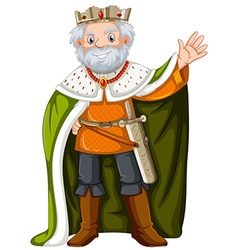 King with green robe vector