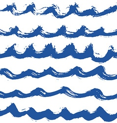 Hand drawn wave pattern vector