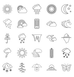 ambiance icons set outline style vector image vector image