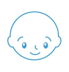 baby shower boy childhood celebration image vector image