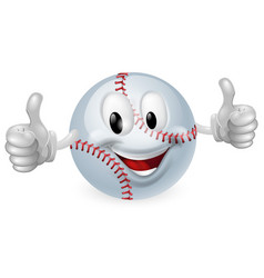 baseball ball mascot vector image vector image