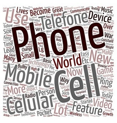 Cell phone in every pocket text background vector