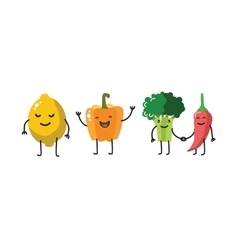 Color fun vegetable vector