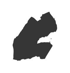 Djibouti map silhouette vector