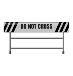 Do not cross traffic barrier icon vector image