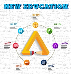 Education infographic design vector