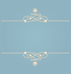 elegant golden knot sign blue and beige pastel vector image vector image