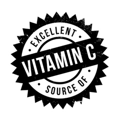 Excellent source of vitamin C stamp vector image vector image