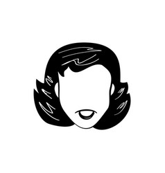 face woman smile cartoon vector image