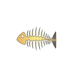 Fishbone computer symbol vector