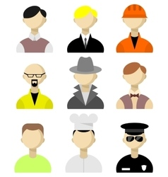 Flat icons men vector image vector image