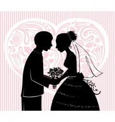 groom and the bride vector image