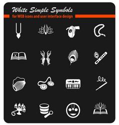 Hare krishna icon set vector