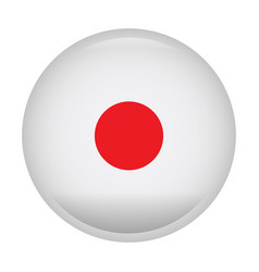 Isolated flag of japan vector