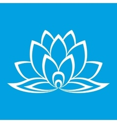 New lotus flower sign vector