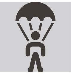 Parachute sport icon vector
