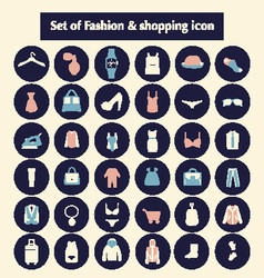 Shopping and fashion related icons vector