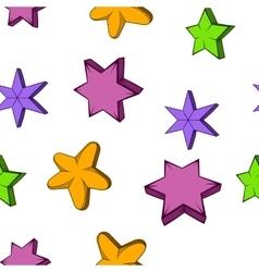 Star pattern cartoon style vector image vector image