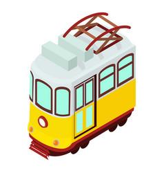 tram icon isometric style vector image