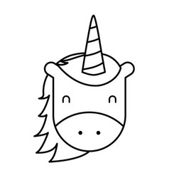 unicorn horned animal fantasy magic vector image vector image