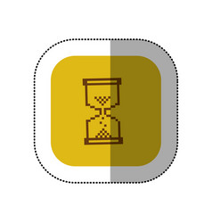 yellow symbol hourglass icon vector image vector image
