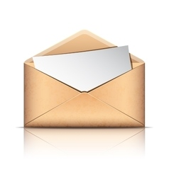 Old envelope with blank paper vector image