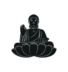 Tian tan buddha isolated vector