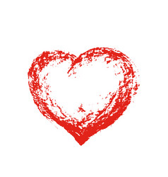 grunge heart red vector image