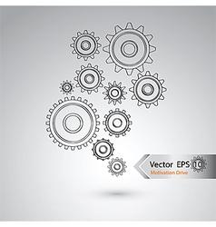 Wheel of design for industrial concept vector