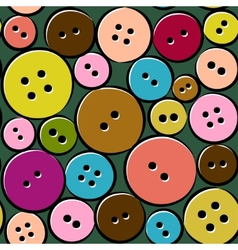 Cute pattern with abstract buttons vector