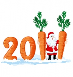 2011 figures from the carrots vector image vector image