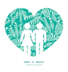 Emerald green plants couple in love vector