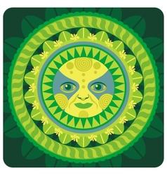 concentric decorative vernal sun vector image