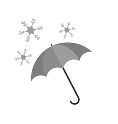 Umbrella with snow vector