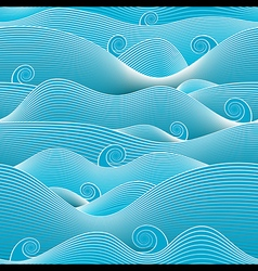 Abstract ocean vector