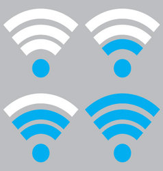 Indicator wifi communication set vector