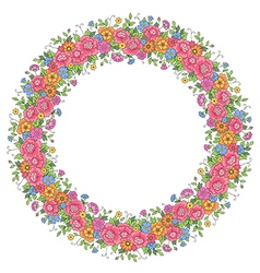 Floral design wreath vector