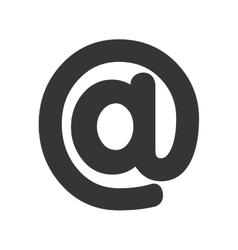 At symbol icon graphic design vector