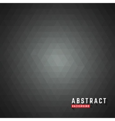 Abstract dark triangle polygon background vector image