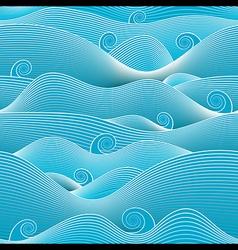 Abstract ocean vector