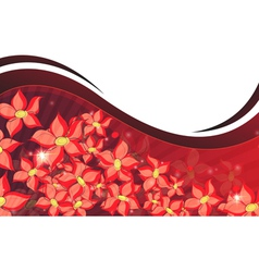 Abstract red flowers vector image vector image
