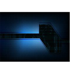 Abstract technological hexagonal interface vector