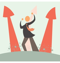 arrow growth concept vector image