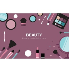 beauty desk header vector image