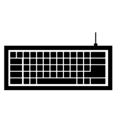 black computer keyboard icon vector image vector image