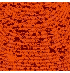 Brick wall of the house with lines laying vector