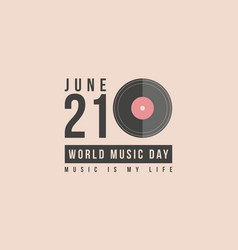 Collection stock world music day art vector
